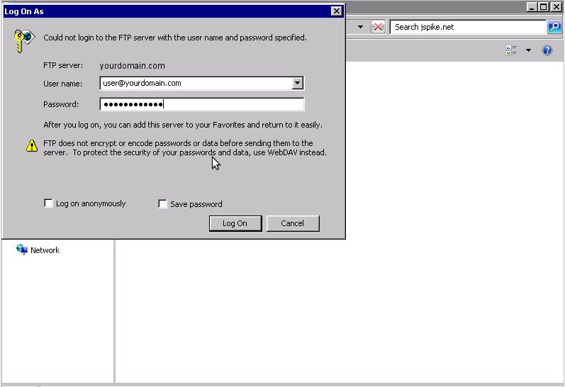 How to use FTP via Windows Explorer « CloudHosted Support Portal